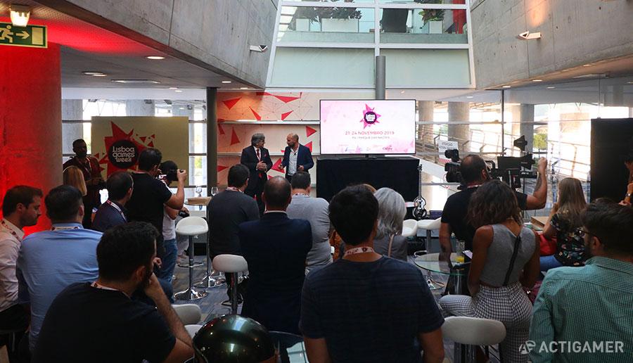 Lisboa Games Week 2019. Pedro Braga, FIL e Alexandre Carvalho, Record/Cofina