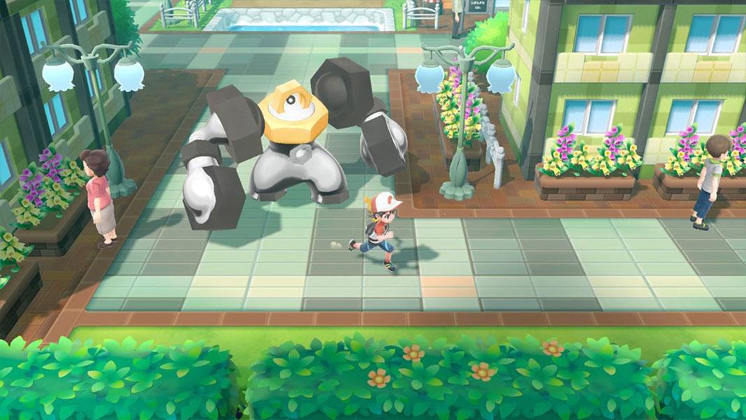 Melmetal nos jogos Pokémon: Let's Go, Pikachu! e Pokémon: Let's Go, Eevee!