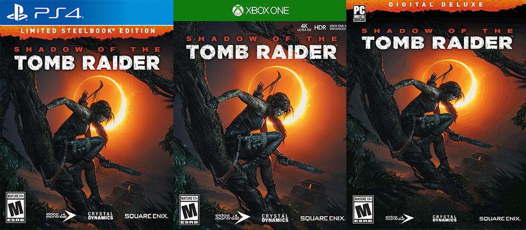 Shadow of the Tomb Raider - Versões do jogo
