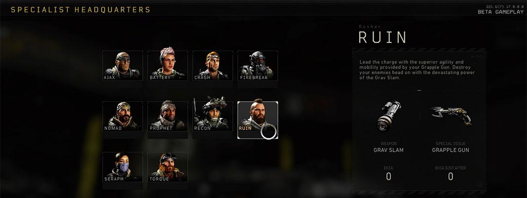 Call of Duty: Black Ops IIII - Specialists
