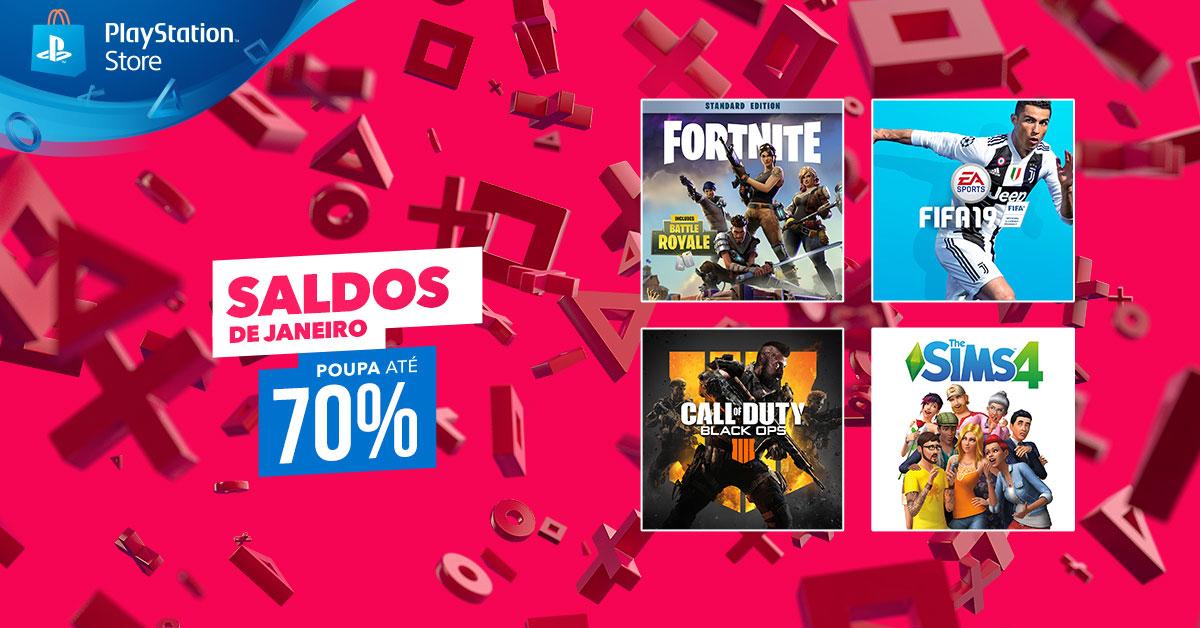 Saldos de janeiro PlayStation