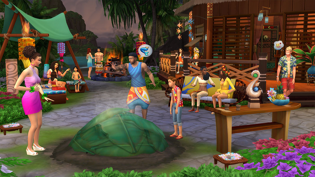 The Sims 4 Living Insland