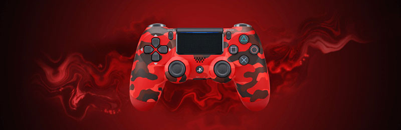 Dualshock 4 Red Camouflage