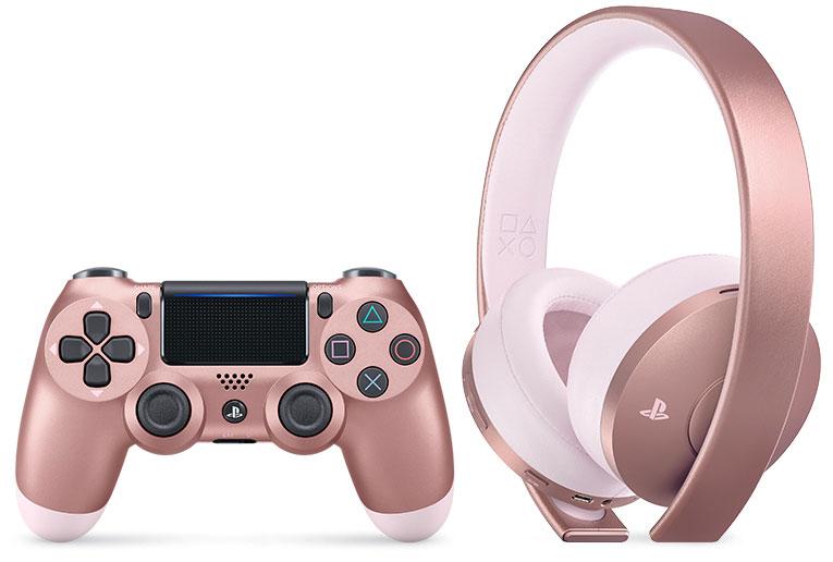 Dualshock 4 Rose Gold Edition Headset