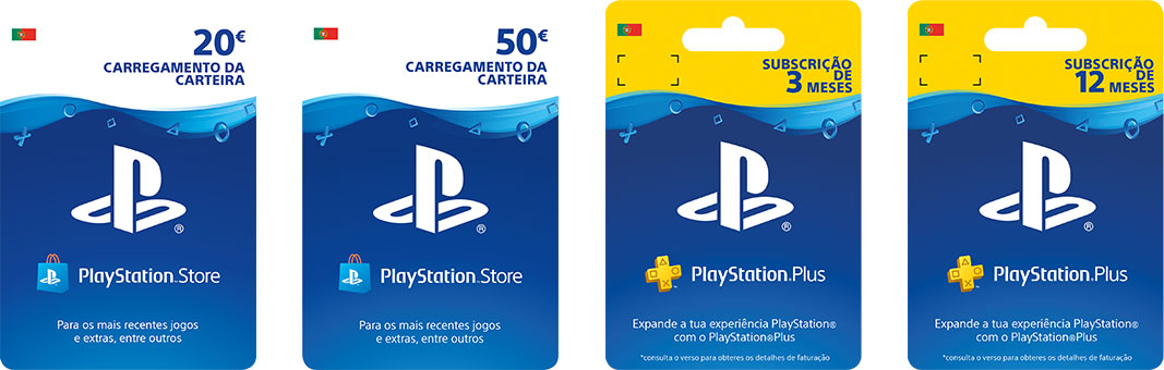 Vouchers PlayStation Store e PlayStation Plus