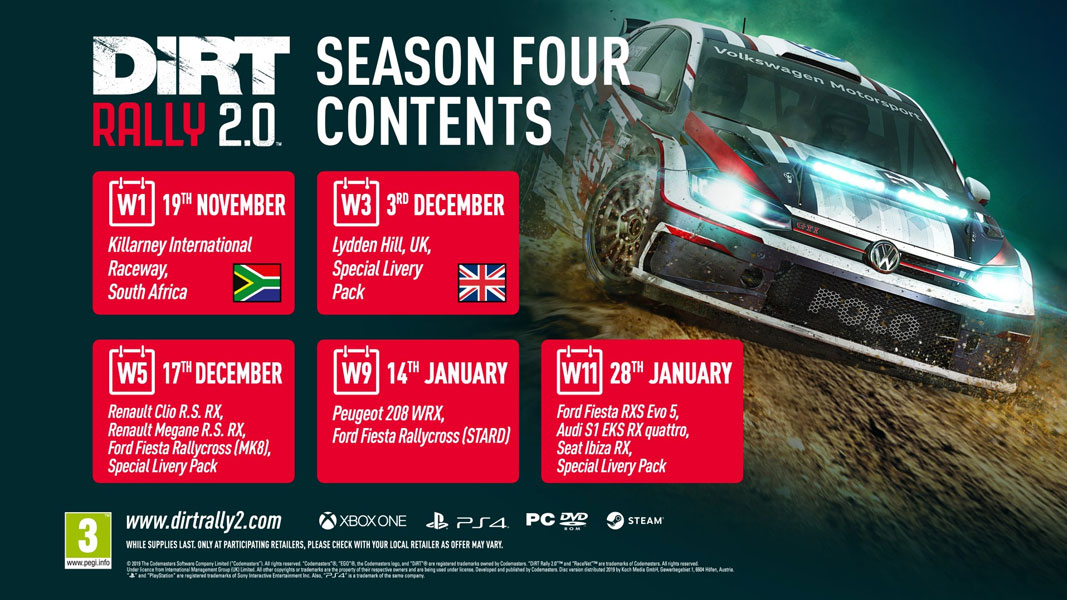 DiRT Rally 2.0 - Temporada 4