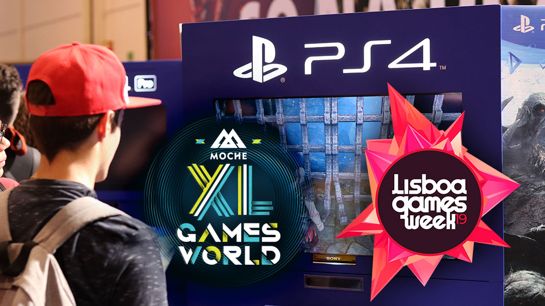 PlayStation no MOCHE XL Games World e Lisboa Games Week 2019