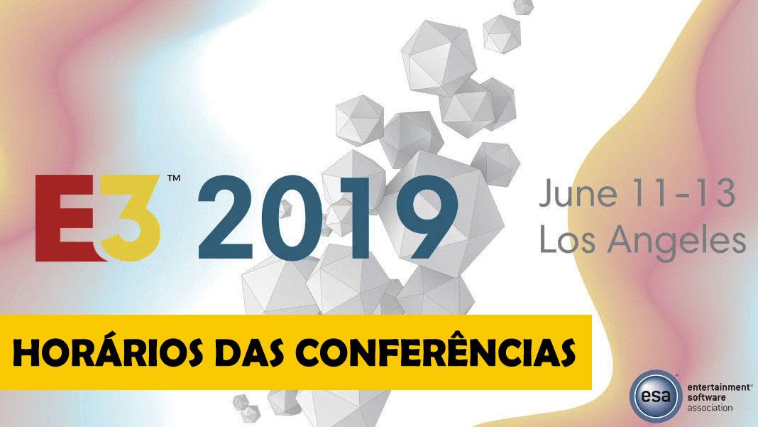 E3 Calendario.E3 2019 Calendario E Horario Das Conferencias Actigamer