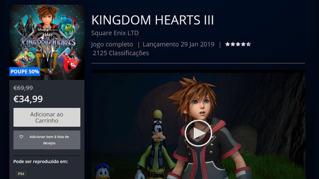 Kingdom Hearts III - PlayStation Store