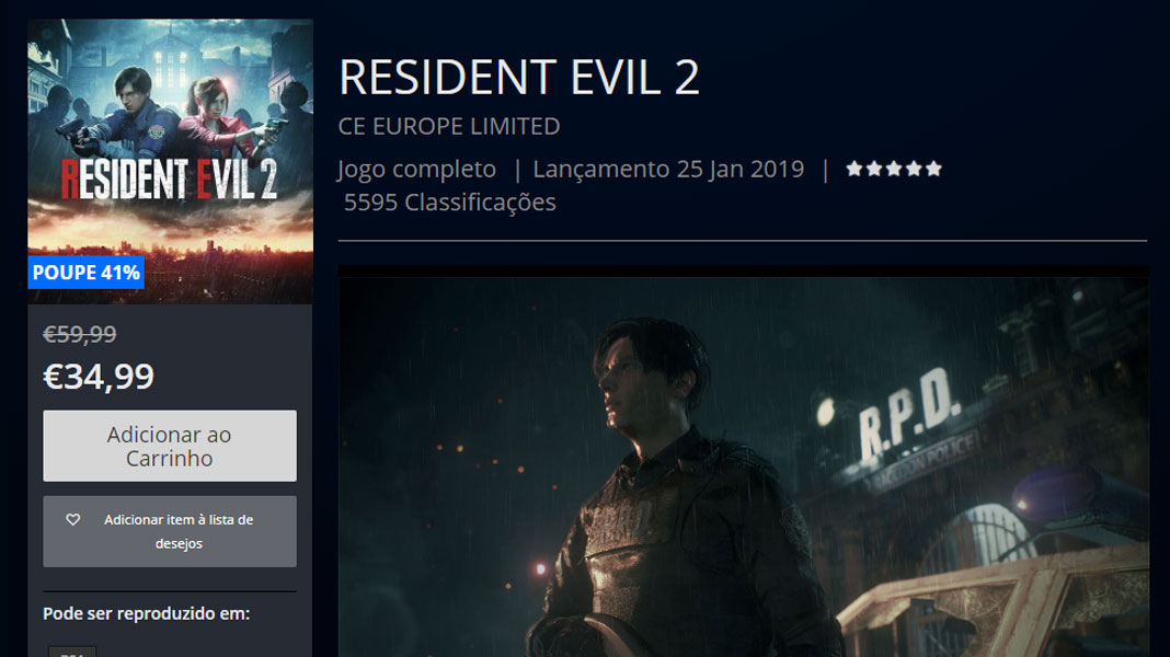 Resident Evil 2 - PlayStation Store