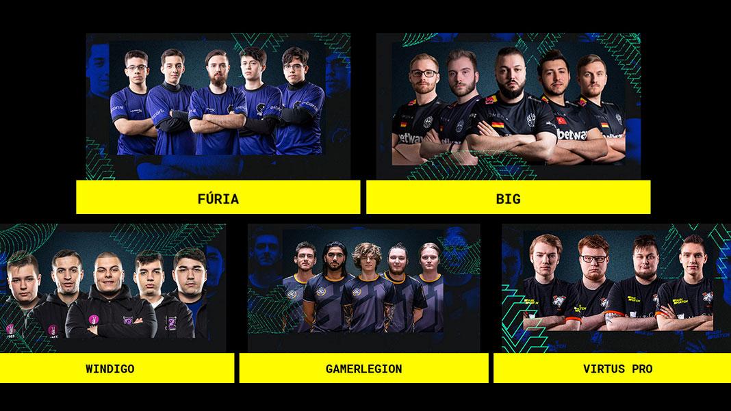 Moche XL Esports 2019 - Equipas