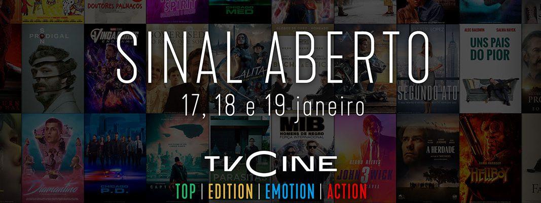 Canais TVCine - Sinal Aberto 17,18 e 19 janeiro 2020