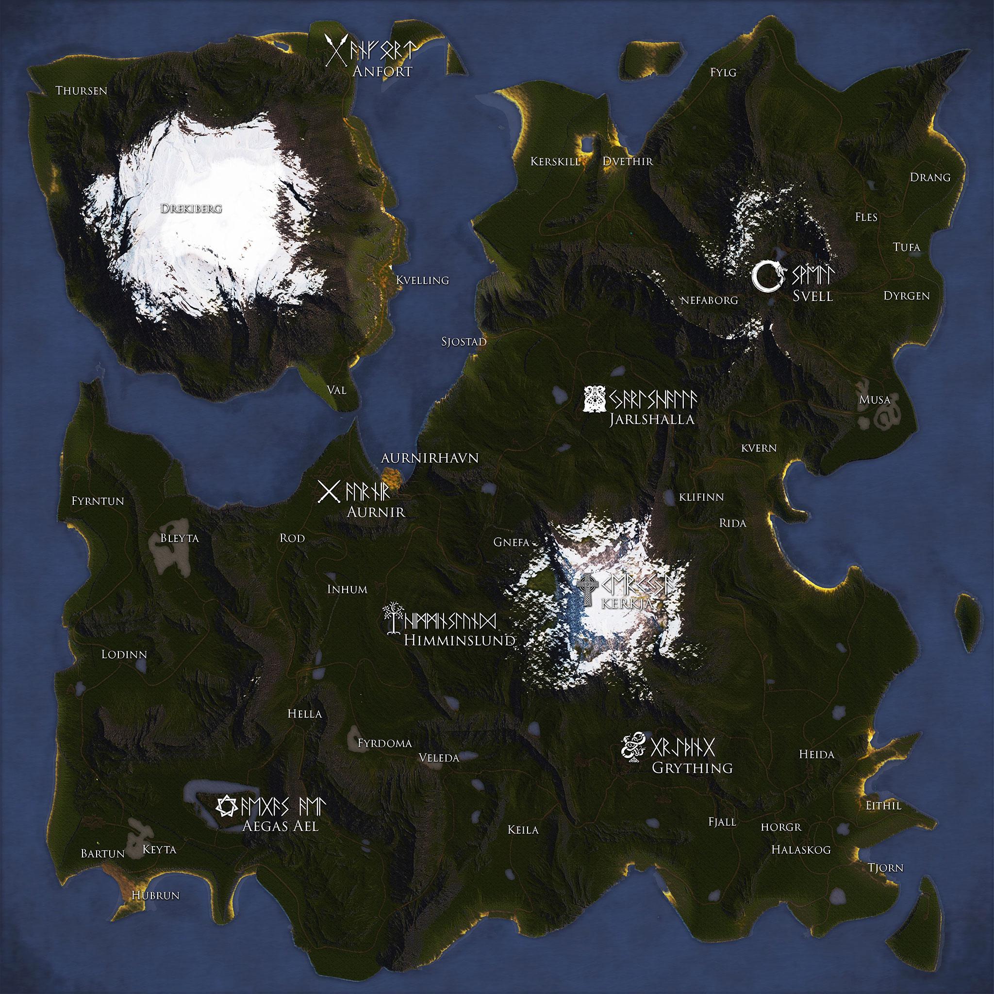 Mapa de Valnir Rok