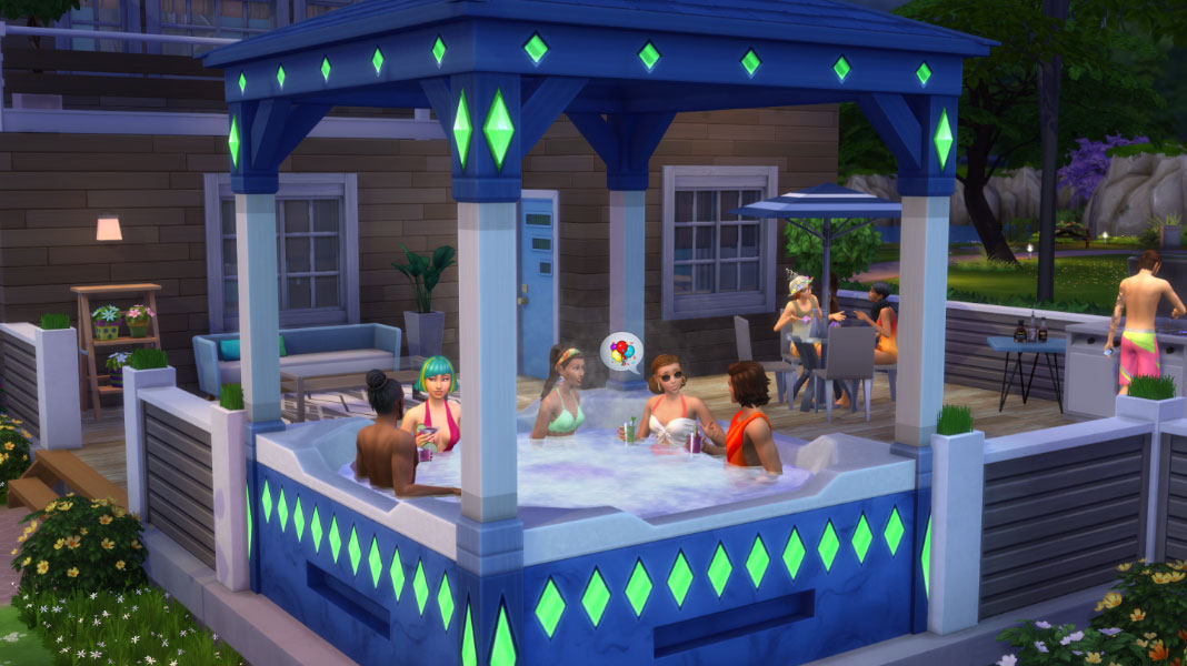 Aniversário The Sims - Birthday Hot Tub