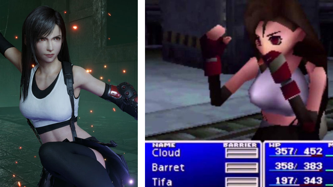 Tifa - Final Fantasy VII Remake vs Original