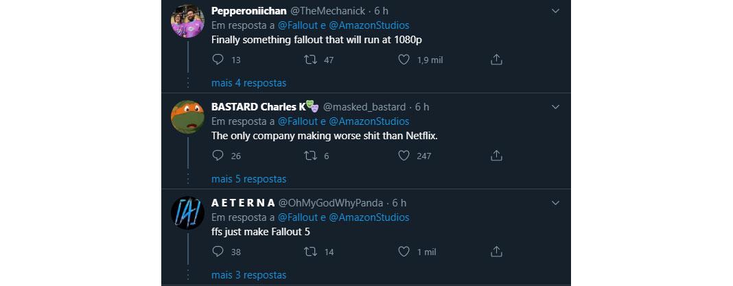 Opiniões - série Fallout