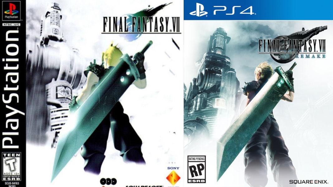 Final Fantasy VII Remake e Original