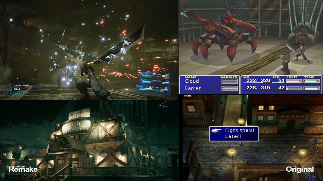 Final Fantasy VII Remake vs Original