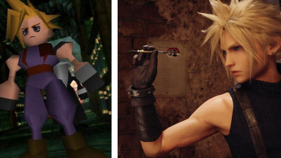 Cloud - Final Fantasy VII Remake vs Original