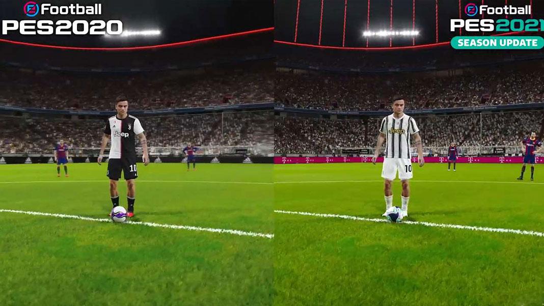 eFootball PES 2020 VS PES 2021