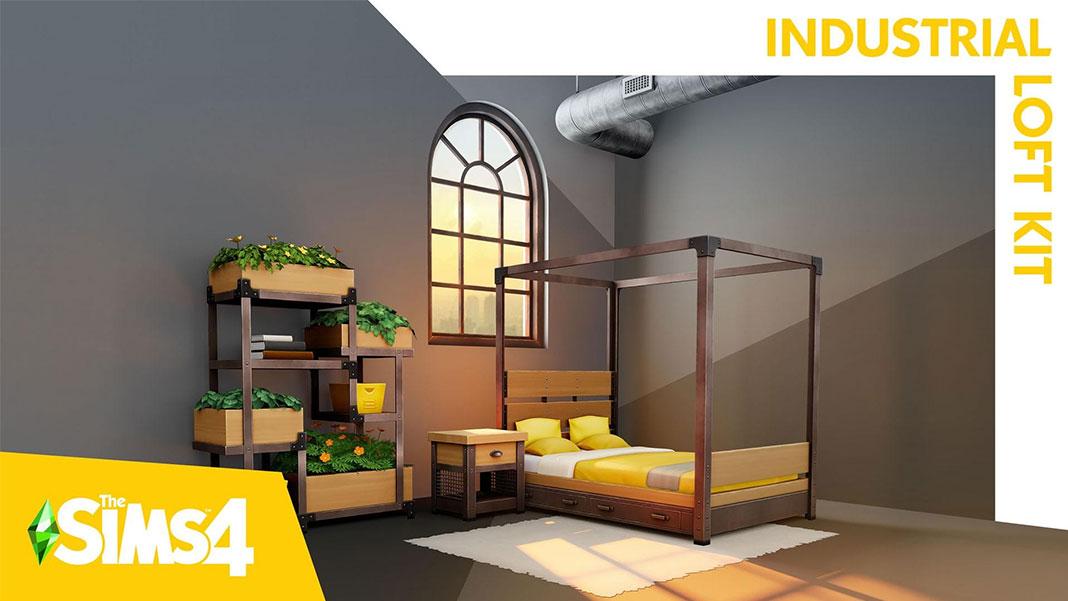 Kit Sims 4 Industrial Loft