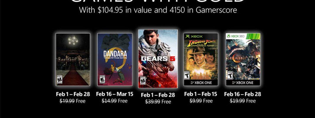 Games with Gold: Jogos do mês de fevereiro 2021