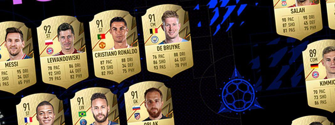 Lista ratings Top 22 jogadores com melhores classificações no FIFA 22