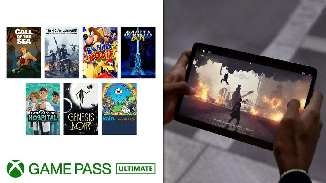 Xbox Game Pass - Controlos de toque da Xbox