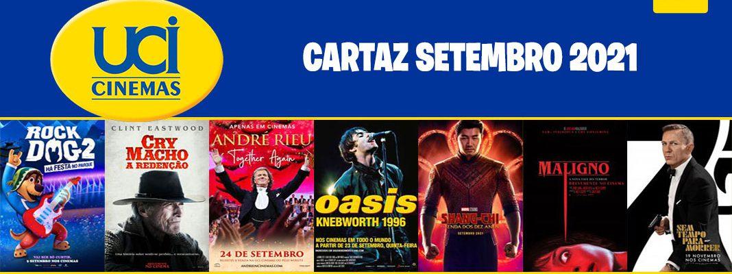 Cartaz Setembro 2021 - UCI Cinemas