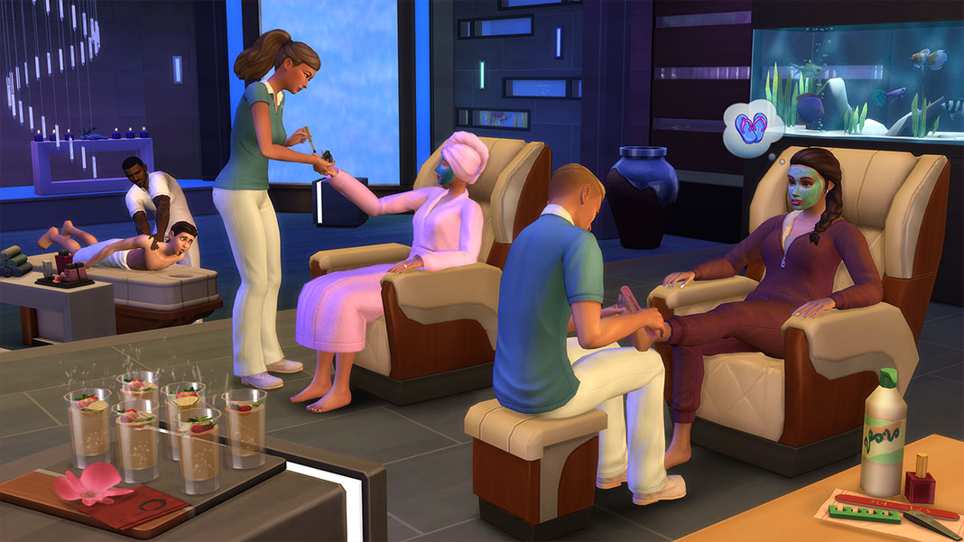 The Sims 4 Spa Day Refresh