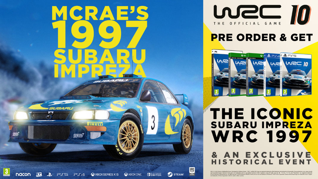 WRC 10 - Subaru Impreza Colin McRae 1997